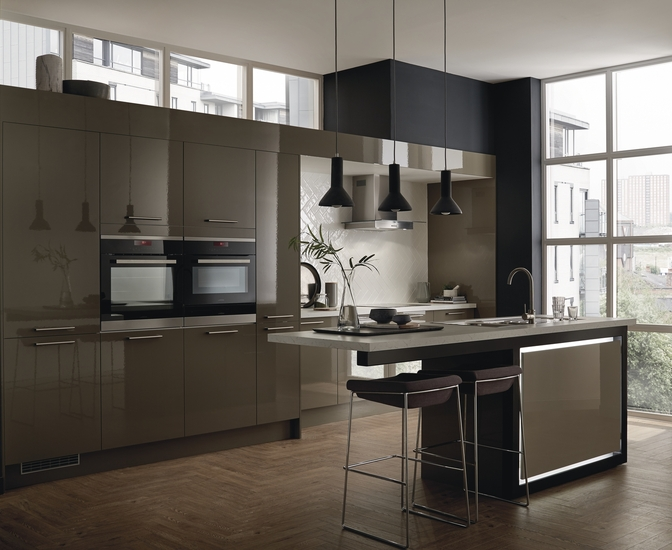 Greenwich Gloss Clay Kitchen Universal Kitchens Howdens Joinery