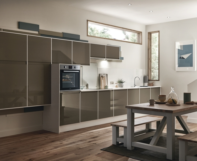 Clerkenwell Gloss Clay Kitchen Contemporary Kitchens