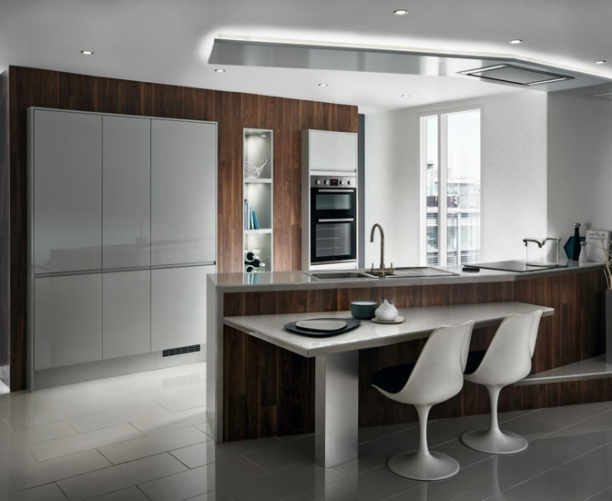 Bayswater Gloss Grey Kitchen Contemporary Kitchens Howdens Joinery