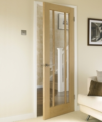 Worcester Oak glazed door
