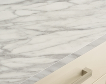 White Marble Effect worktop