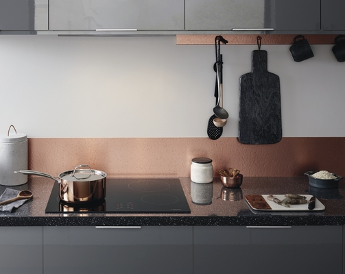 Greenwich Gloss Slate Grey Kitchen Universal Kitchens Howdens - Grey copper kitchen
