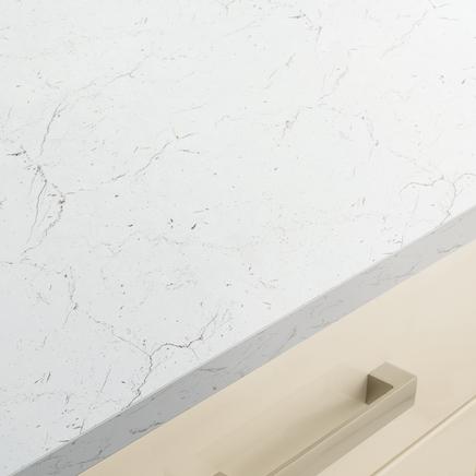 White/Grey Marble Effect worktop