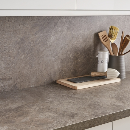 Natural stone grey backboard kitchen worktop backboards howdens joinery - Kitchen backboards ...