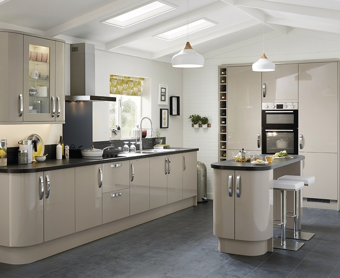 Glendevon Gloss Stone Kitchen Universal Kitchens