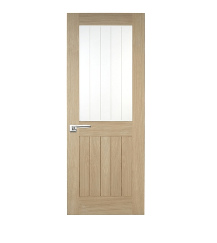 Holdenby Oak Glazed Door