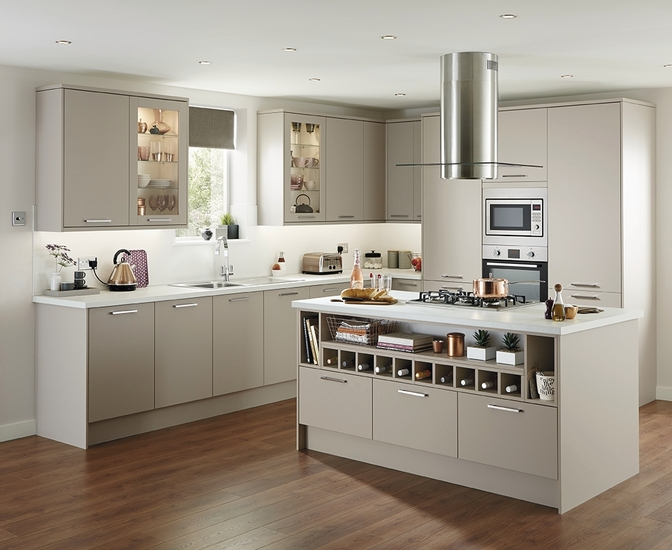 Stockbridge super matt stone kitchen range universal for Kitchen ideas howdens