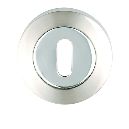 Polished/Satin Chrome round escutcheon