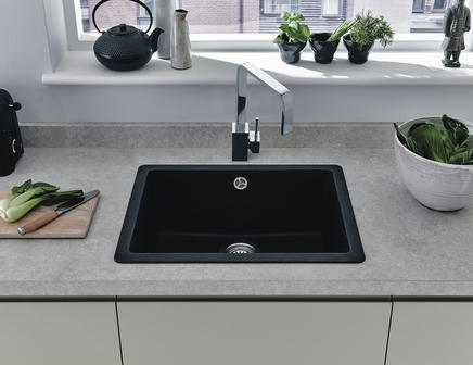 Black Granite Composite Undermount Single Bowl Sink