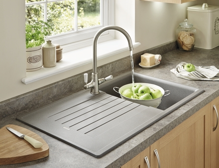 Lamona Grey granite composite single bowl sink