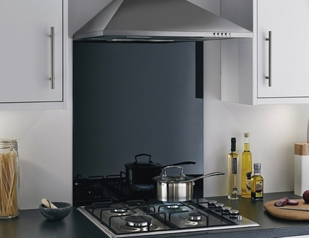 Black Steel splashback
