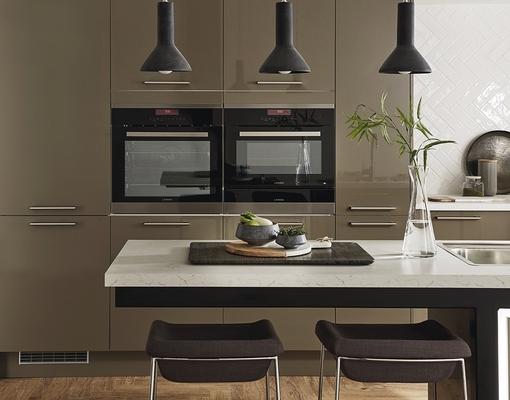 Greenwich Gloss Clay Kitchen Universal Kitchens