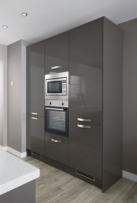 Greenwich Gloss Graphite Kitchen Universal Kitchens