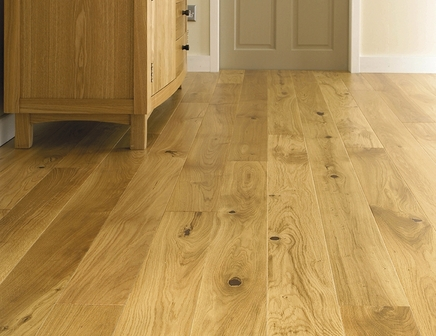 Pre-Finished Fast Fit Oak single plank flooring