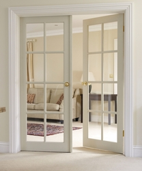 8 Light Clear Pine glazed door