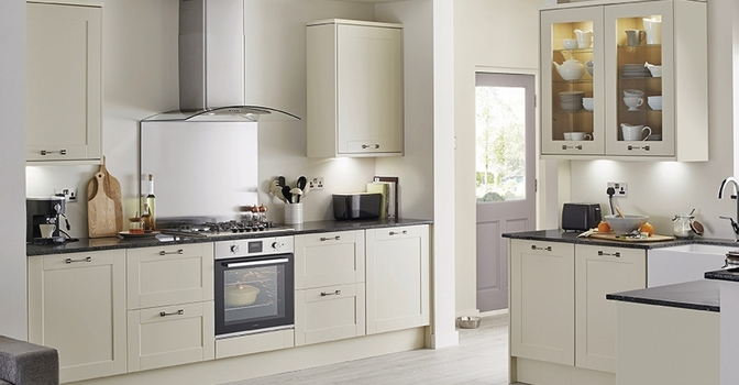 Grey Kitchen Cabinets Howdens burford ivory | howdens joinery