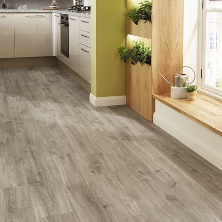 Quickstep livyn canyon oak grey vinyl flooring quickstep for Quickstep kitchen flooring
