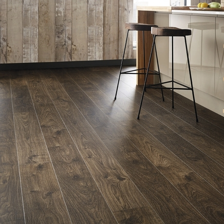 Quickstep livyn cottage oak dark brown vinyl flooring for Quickstep kitchen flooring
