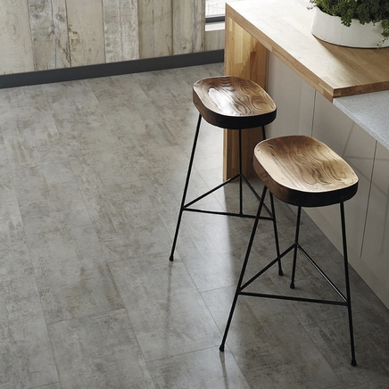 Quickstep livyn light grey travertine vinyl tile flooring for Quickstep kitchen flooring