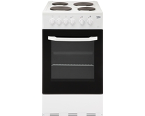Beko freestanding 50cm oven & grill with solid hotplate hob
