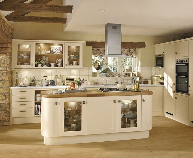 Burford cream kitchen shaker kitchens howdens joinery for Kitchen cabinets 600mm