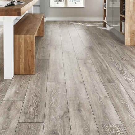 Professional V Groove Light Grey Oak laminate flooring