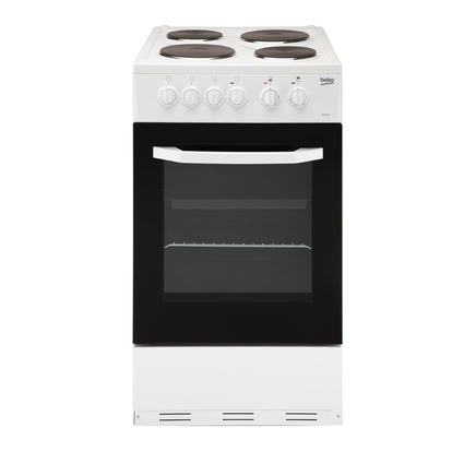 Beko freestanding 50cm oven grill with solid hotplate hob