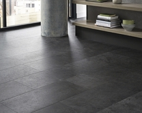 Quickstep Livyn Black Slate vinyl tile flooring