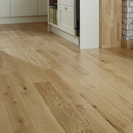 Howdens Solid Oak Flooring 17 Gloss Solid Wood