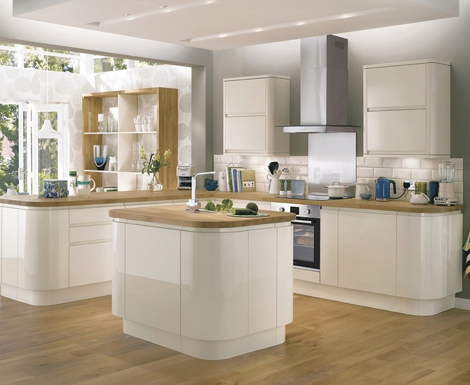 Bayswater Gloss Ivory Kitchen Contemporary Kitchens Howdens Joinery