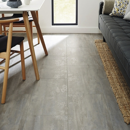 Professional V Groove Grey Stone Laminate Tiles Howdens