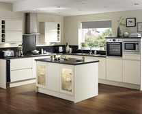 Clerkenwell Gloss Ivory Kitchen Contemporary Kitchens Howdens Joinery
