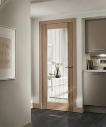 Pre-finished Genoa Oak glazed door