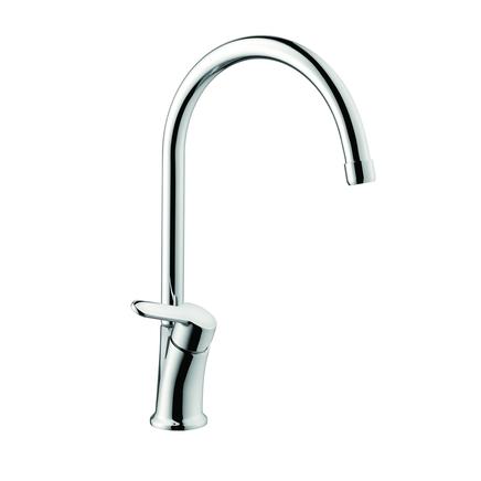 Lamona Chrome Savoca swan neck single lever tap