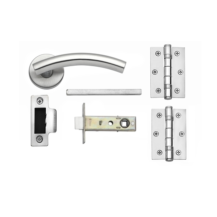 Turin Satin Stainless Steel rose latch pack