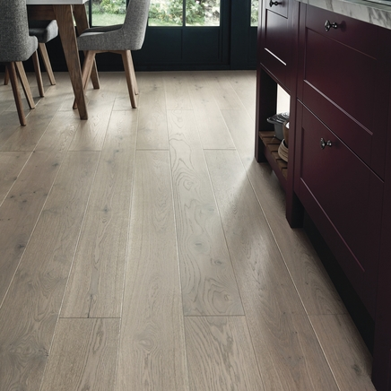 Fast Fit Light Grey Oak single plank wide flooring