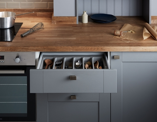 Fairford Slate Grey Kitchen Shaker Kitchens Howdens Joinery - Slate grey kitchen units
