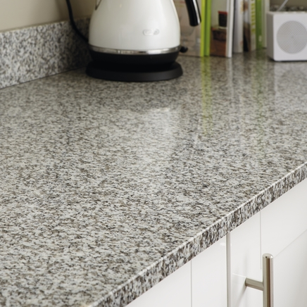 White Granite 20mm Worktop Howdens Joinery