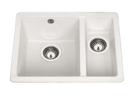Lamona White granite composite inset/undermount 1.5 bowl sink