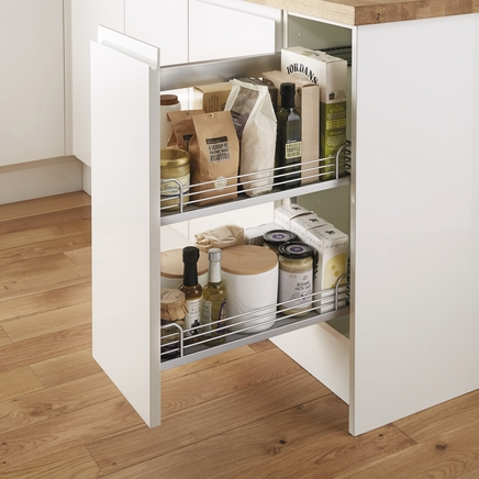 Pull out base unit kitchen storage solutions howdens for Kitchen base unit shelf
