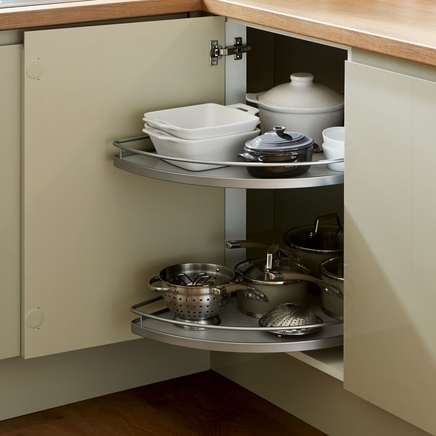 Half Corner Carousel Kitchen Storage Solutions Howdens