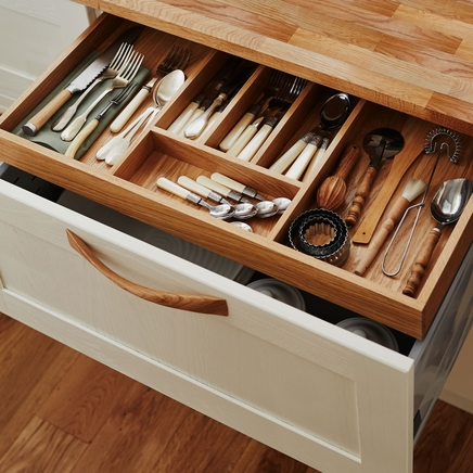 Timber internal storage drawer