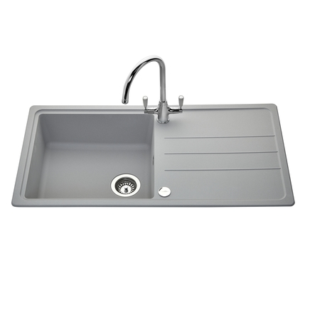 Lamona Light Grey standard composite single bowl sink