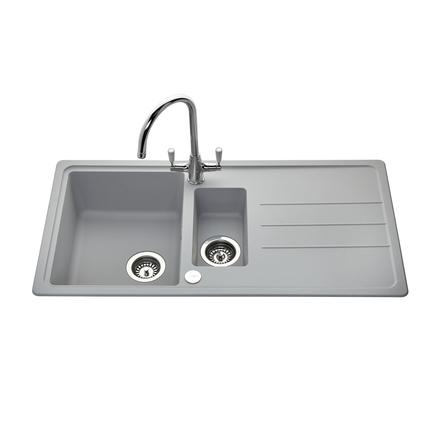 Lamona Light Grey standard composite 1.5 bowl sink