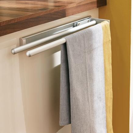 Brushed Aluminium towel rail