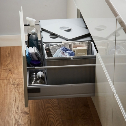 Pan drawer recycling bin
