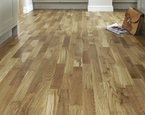 Pre-Finished Fast Fit Oak 3 Strip flooring