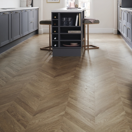 Professional Oak Chevron Laminate Flooring Howdens Joinery