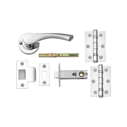 Sofia Chrome push button privacy latch pack