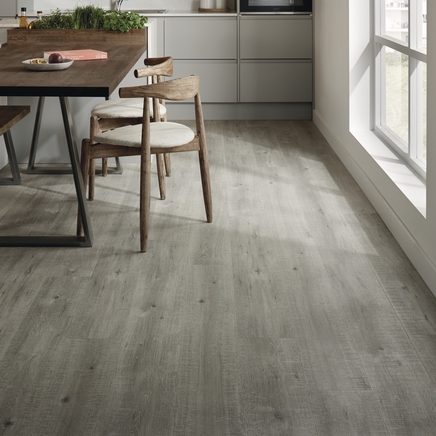 Quickstep Impressive Grey Oak Laminate Flooring Howdens Joinery